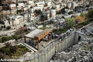 Zona de acceso a las excavaciones del palacio del Rey David.