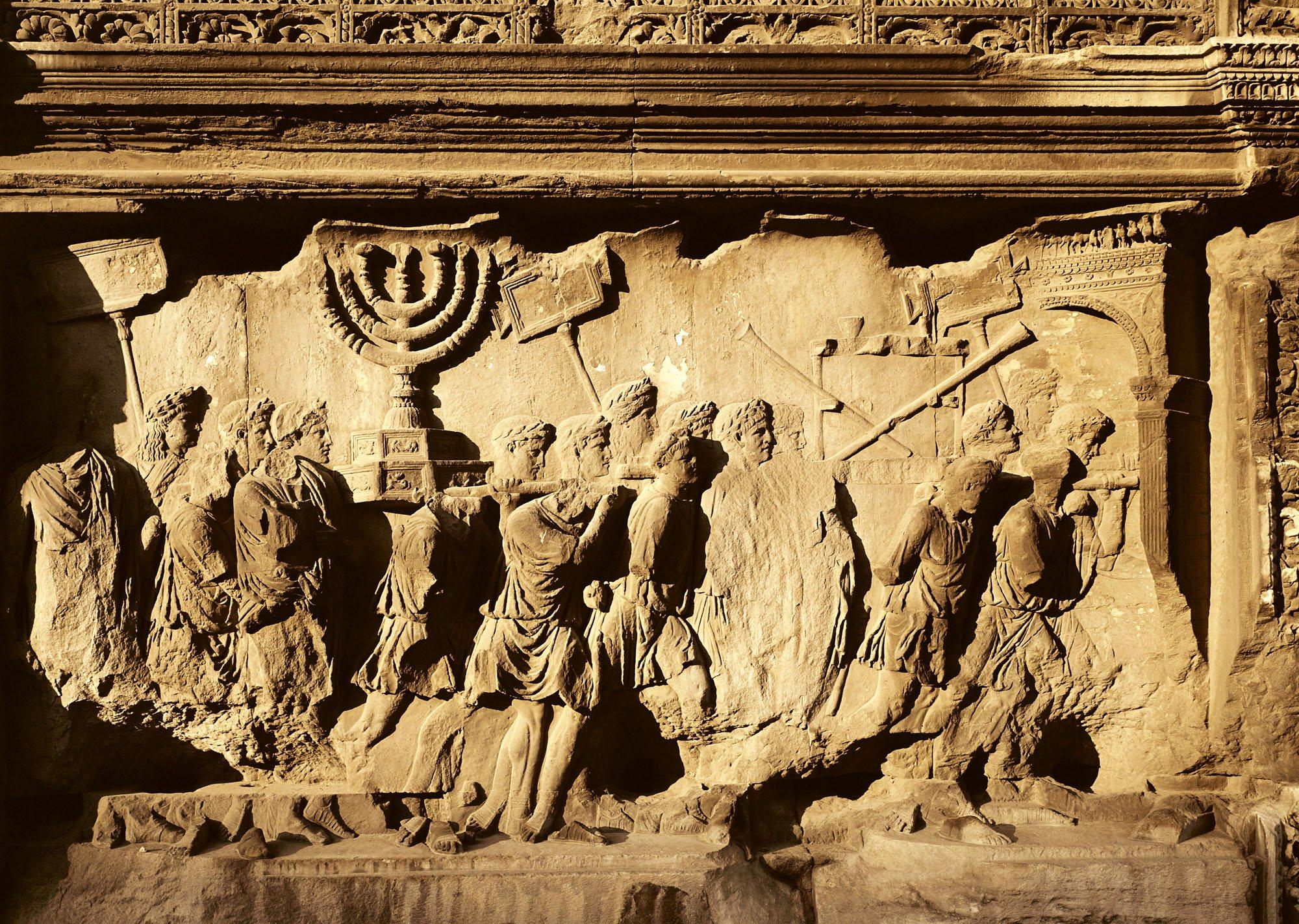 Bajorelieve de la destrucción del Templo de Jerusalen en el siglo I