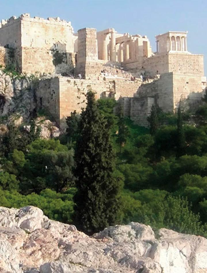Vista de la Acrópolis de Atenas desde el monte de Aerópag
