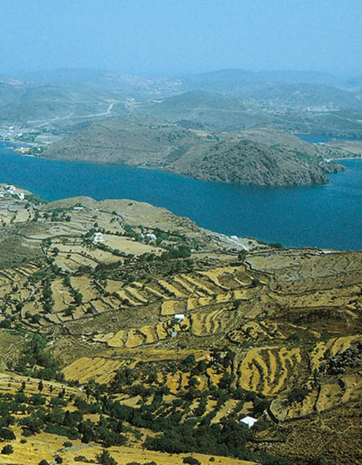 Isa de Patmos en el mar Egeo.