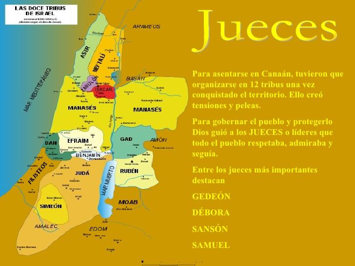 Asentamiento de las doce tribus en Canaán