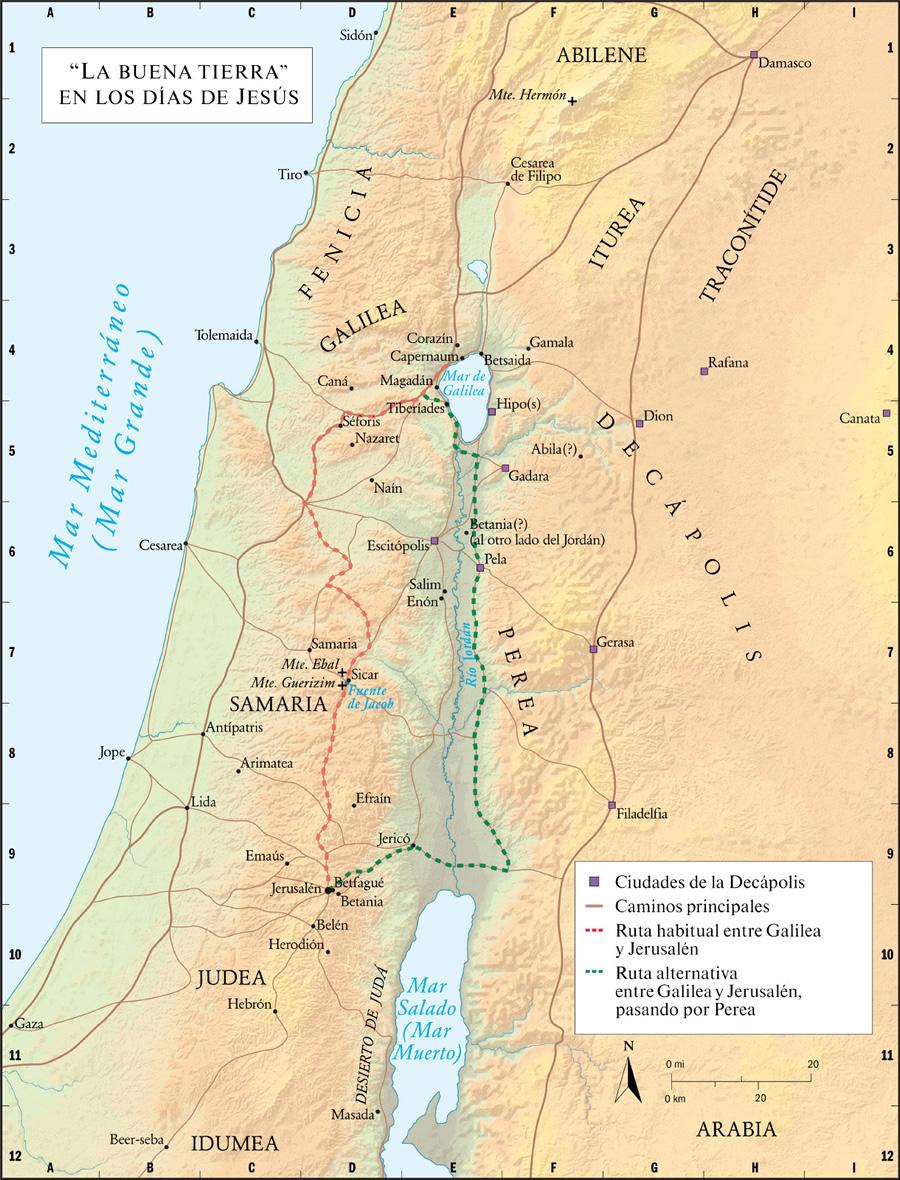 """Mapa de la conocida como """"la buena tierra"""" en la época de Mashiaj"""