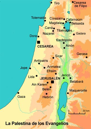 La palestina de los Evangelios