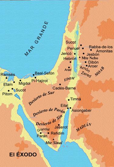 Mapa del Éxodo