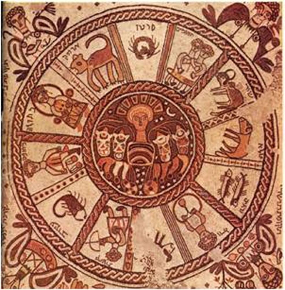 Grabado del calendario romano Juliano