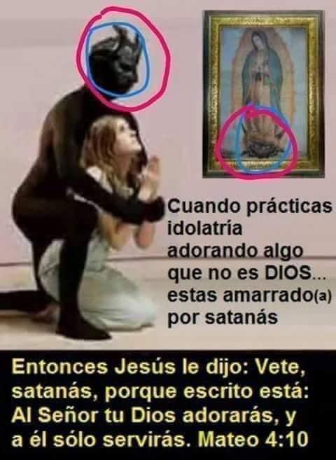 El pecado de la idolatría