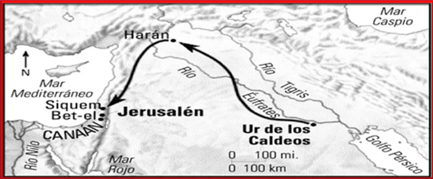 Ruta que siguió Canaán