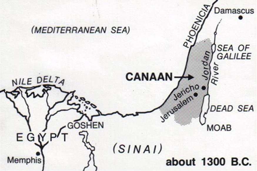 Zona Canaán 1300 B.C.