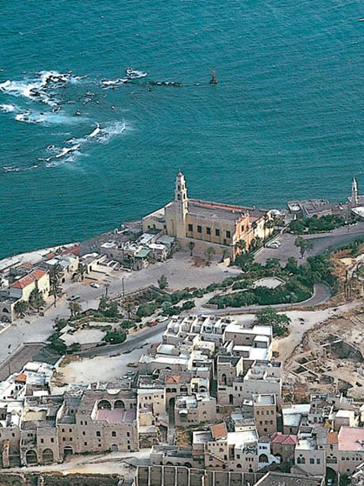 Vista aerea de la ciudad portuaria de Jope