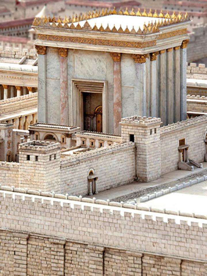 Reproducción a escala del Templo de Jerusalén