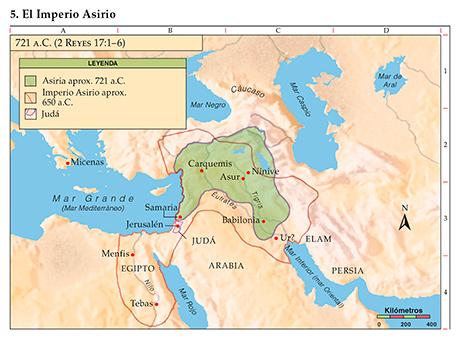Mapa del imperio Asirio