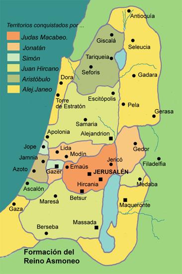 Mapa del reino Asmoneo