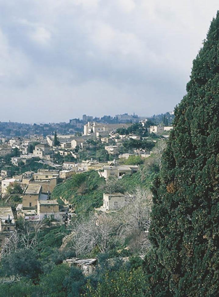 Vista de la actual ciudad de Nazaret