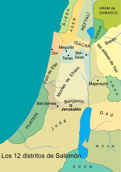 Los doce distritos de Salomón