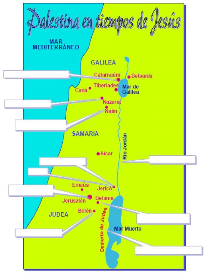 Mapa para completar datos de Palestina en tiempos de Jesús