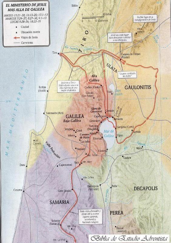 Ministerio de Jesús más alla de Galilea