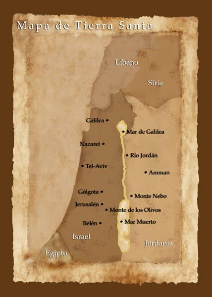 Mapa de la tierra Santa