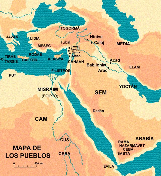 Mapa de los Pueblos
