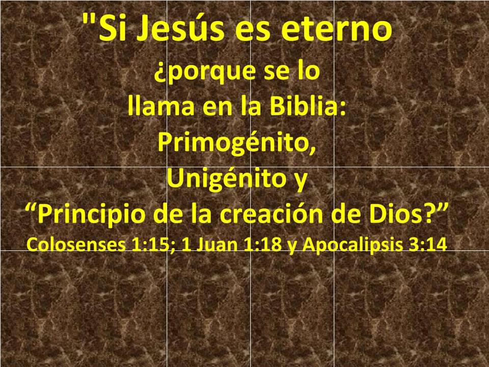 Jesus es Eterno